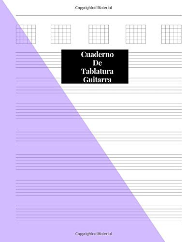 Cuaderno de tablatura guitarra